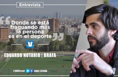 """Entrevista. Eduardo Notario: """"Donde se está fraguando más la persona es en el deporte"""""""