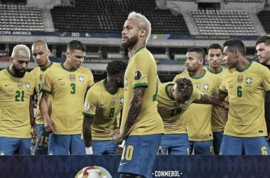 Seleção Brasileira, que enfrenta a Colômbia (CBF / Divulgação)