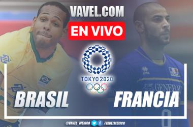 Resumen y mejores momentos del Brasil 3-2 Francia en Voleibol Varonil Tokio 2020