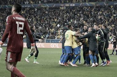 Brasil festejó en los penaltis   Foto: Conmebol