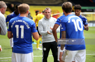 Brendan Rodgers believes the 'luck went against' his Leicester side after frantic final five minutes