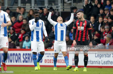 Anthony Knockaert will be looking to celebrate another goal like in the last meeting at the Vitality in the FA Cup third round back in January. Image courtesy of Robin Jones from AFC Bournemouth on Getty Images.