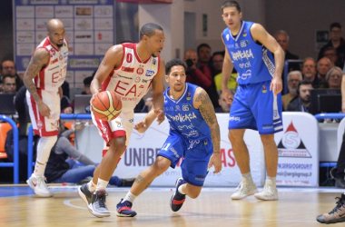 LegaBasket Serie A - Brindisi dura solo un tempo: Milano ritorna alla vittoria (72-84)