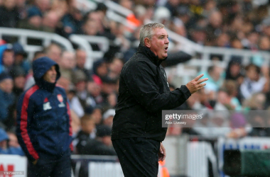 Steve Bruce, Manager of Newcastle United reacts during the Premier League match between Newcastle United and Arsenal FC at St. James Park on August 11, 2019 in Newcastle upon Tyne, United Kingdom. (Photo by Alex Livesey/Getty Images)
