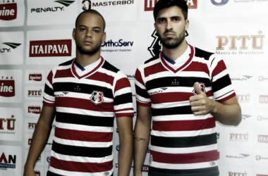 Bruninho e Diego Sacoman estavam no Palmeiras e na Ponte Preta, respectivamente (Foto: Jamil Gomes/Santa Cruz)