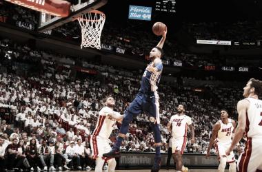 Ben Simmons, 19 punti, 12 rimbalzi e 7 assist in gara-3. Fonte: NBA/Twitter