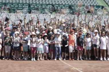 Kids day at the Bucharest Open last year. Photo:BRD Bucharest Open