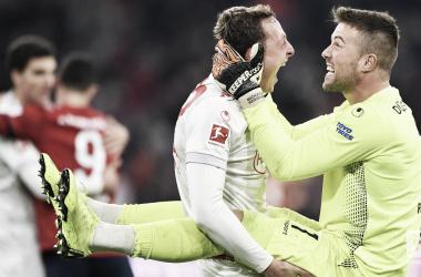 Alegría total para los jugadores del Fortuna Dusseldorf | Foto: @Bundesliga_EN