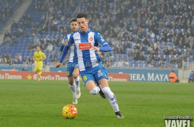 Burgui y Duarte cuando jugaban en el Espanyol. / Foto: Ernesto Aradilla | VAVEL
