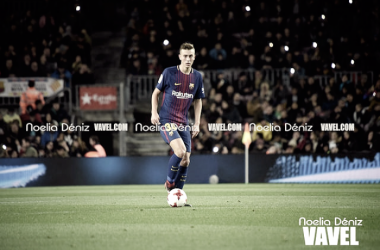 Oriol Busquets debutó contra el Murcia en el Camp Nou | Foto: Noelia Déniz - VAVEL