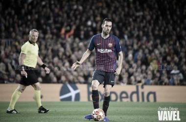 """Sergio Busquets: """"La competencia siempre es buena en un equipo"""""""