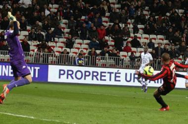 Le ciseau de Mahamane Traoré offre la victoire aux aiglons (crédit photo : OGCNice.com)