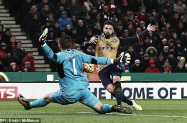 Butland saves from Giroud during the first half (photo: BPI)