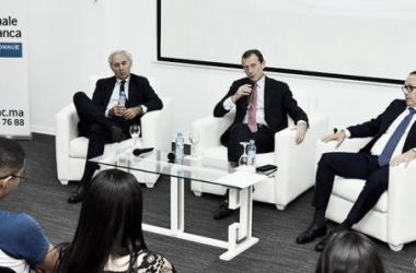 Emilio Butragueño durante la conferencia ofrecida en Marruecos/FOTO:Real Madrid