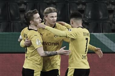Reus, Haaland y Sancho combinaron para el 0-1 / FOTO: @DFBPokal_EN