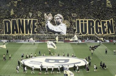 «Danke Jurgen»: fãs do Borussia Dortmund despedem-se de Klopp