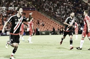 Ignacio Fernández anotó gol en el triunfo riverplatense. Foto: Lapaginamillonaria.com