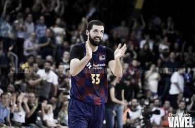 Nikola Mirotic durante el FC Barcelona - Valencia Basket / Foto: Noelia Déniz (VAVEL)