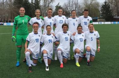Italy's starting XI against Moldova. Photo c/o Vanu Caftanat (Football Moldovian Federation)