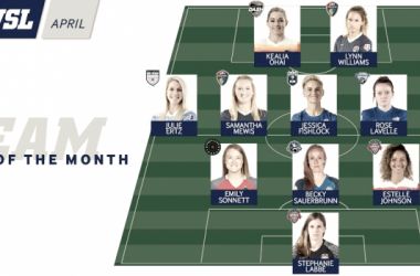 NWSL Team of the Month for April | Source: nwslsoccer.com