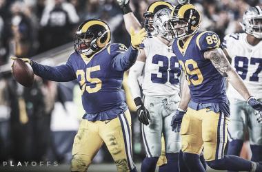 C.J Anderson festeja el segundo touchdown que liquidó el juego (Imagen: Rams.com)