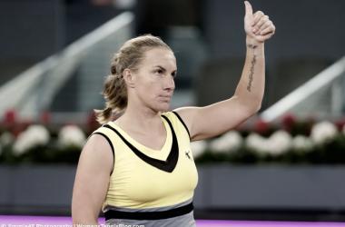 Svetlana Kuznetsova celebrates reaching the semifinals in Madrid. (Photo: Jimmie48 Photography)