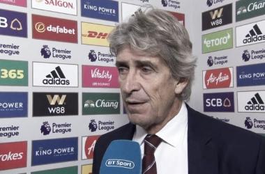 """Manuel Pellegrini: """"Estoy muy orgulloso de la forma en que el equipo está jugando"""""""