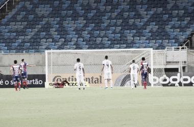 De pênalti, Gilberto deslocou o goleiro e fez o gol da classificação tricolor. Divulgação/Foto: EC Bahia