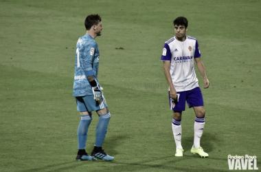 Enrique Clemente junto a Cristian Álvarez /Fto: Andrea Royo VAVEL
