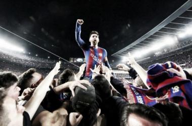 Messi, el máximo exponente argentino en España   Foto: Barcelona FC