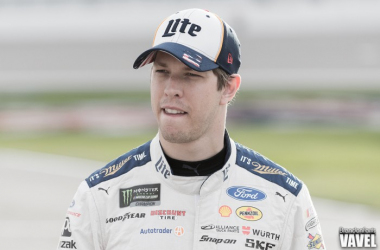 Brad Keselowski walks towards his car earlier this season. (Brandon Farris - VAVEL USA)