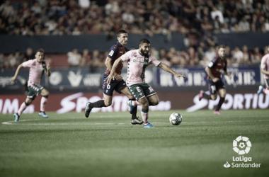 El Betis - Osasuna se jugará el miércoles a las 20:30