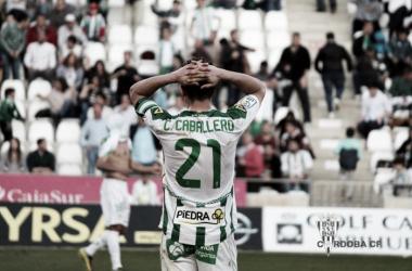 Caballero desolado ante la derrota | Foto: Córdoba CF