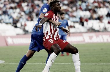 Gassama y Catena en el Almería - CF Reus | Foto: CF Reus