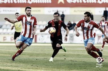 Miguel Linares ante el CD Lugo | Foto: LaLiga 1|2|3