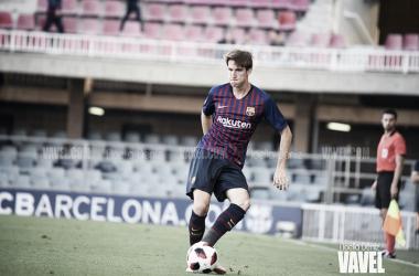 Juan Miranda, lateral zurdo del Barça B | Foto: Noelia Déniz (Vavel)