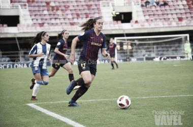 Alexia Putellas ante el RCD Espanyol Femenino | Foto: Noelia Déniz (Vavel)