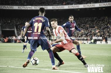 Dembélé y Granell en el Barça - Girona de la temporada pasada | Foto: Noelia Déniz (Vavel)
