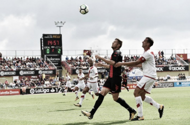 Edgar Hernández ante el Rayo Vallecano   Foto: CF Reus Deportiu