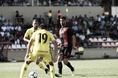 Juan Domínguez, el autor del gol que ha dado los 3 puntos | Foto: Vavel.com