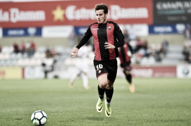 Ricardo Vaz, lesionado de gravedad ante la UD Almería   Foto: CF Reus