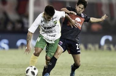Cachete Morales convirtió en el último choque ante Defensa (Foto: Olé).