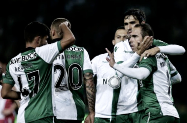 Leões brasileiros sambam rumo ao Jamor: Sporting goleia Praiense // Foto:MIGUEL A. LOPES/LUSA