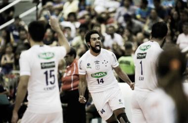 Cruzeiro venceu Sesc-RJ por 3 sets a 1 (Foto: Luciano Belford/Divulgação)