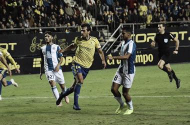 Lekic, uno de los goleadores del encuentro. | Foto: Cádiz CF