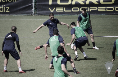 Los jugadores del Cádiz durante la sesión matinal | Cádiz CF