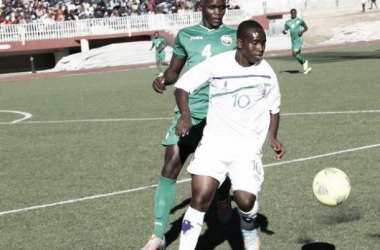Tšepo Seturumane, autor del gol de Lesoto. (Foto: CAF).