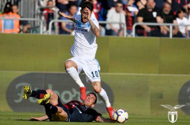 Serie A - La Lazio resta in corsa per l'Europa: Cagliari battuto 1-2