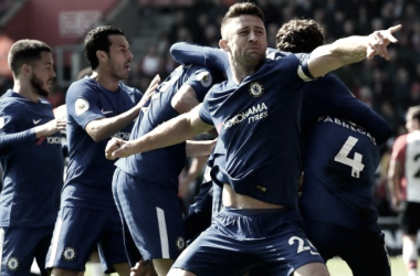 Gary Cahill celebrando un tanto // Fuente: Chelsea