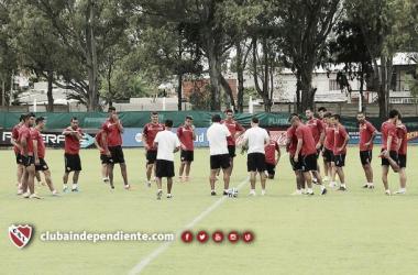 El equipo entrenó pensando en el Arse. (Foto: Independiente Oficial)
